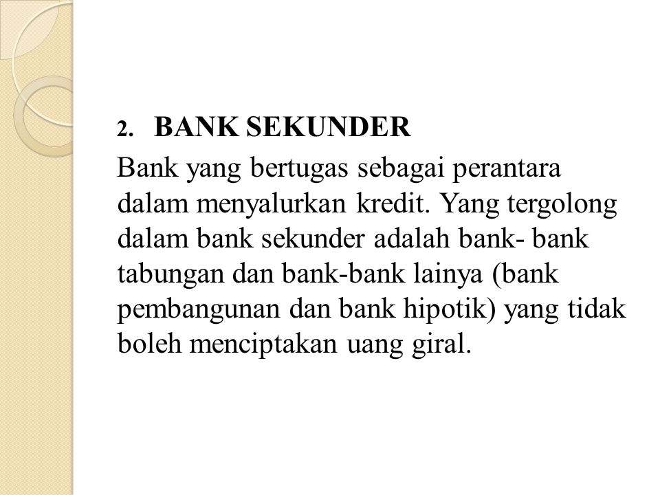 BANK SEKUNDER