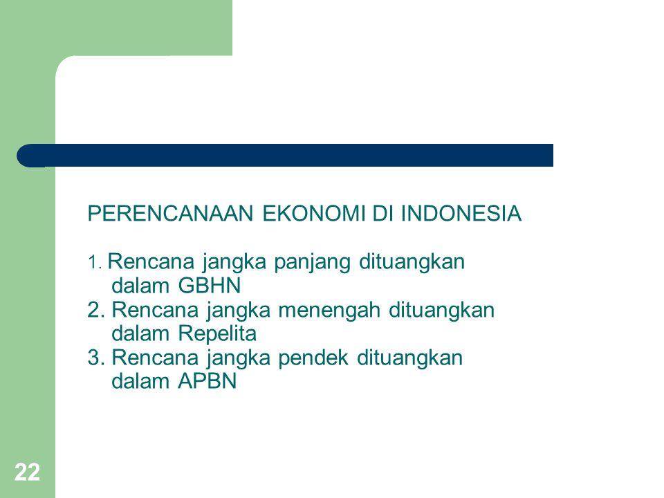 PERENCANAAN EKONOMI DI INDONESIA 1