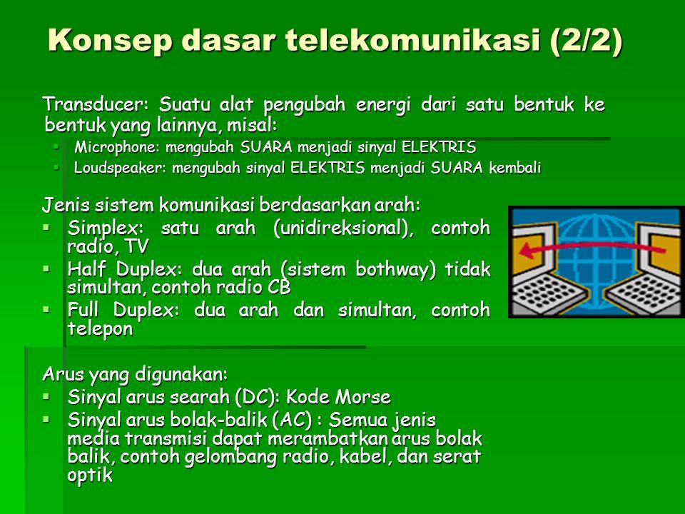 Konsep dasar telekomunikasi (2/2)