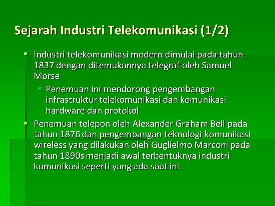 Sejarah Industri Telekomunikasi (1/2)