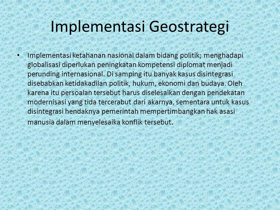 Implementasi Geostrategi