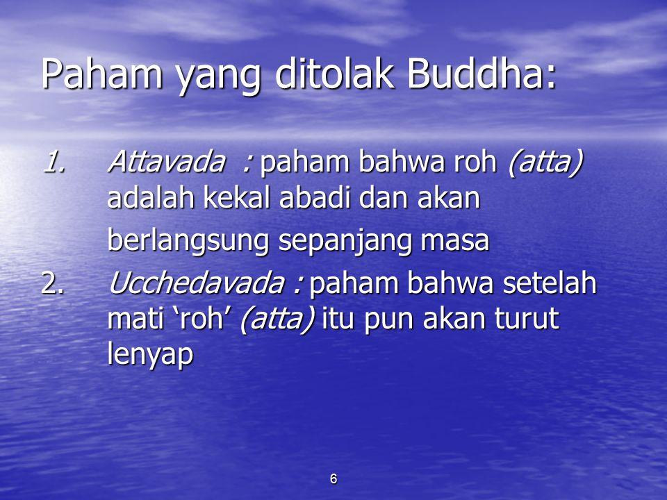 Paham yang ditolak Buddha: