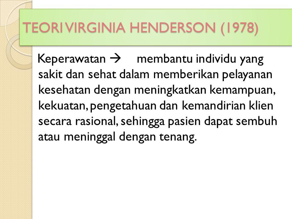 TEORI VIRGINIA HENDERSON (1978)