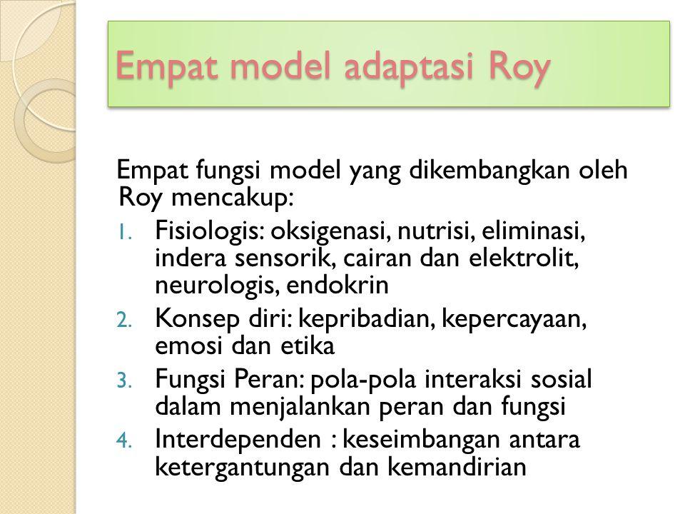 Empat model adaptasi Roy