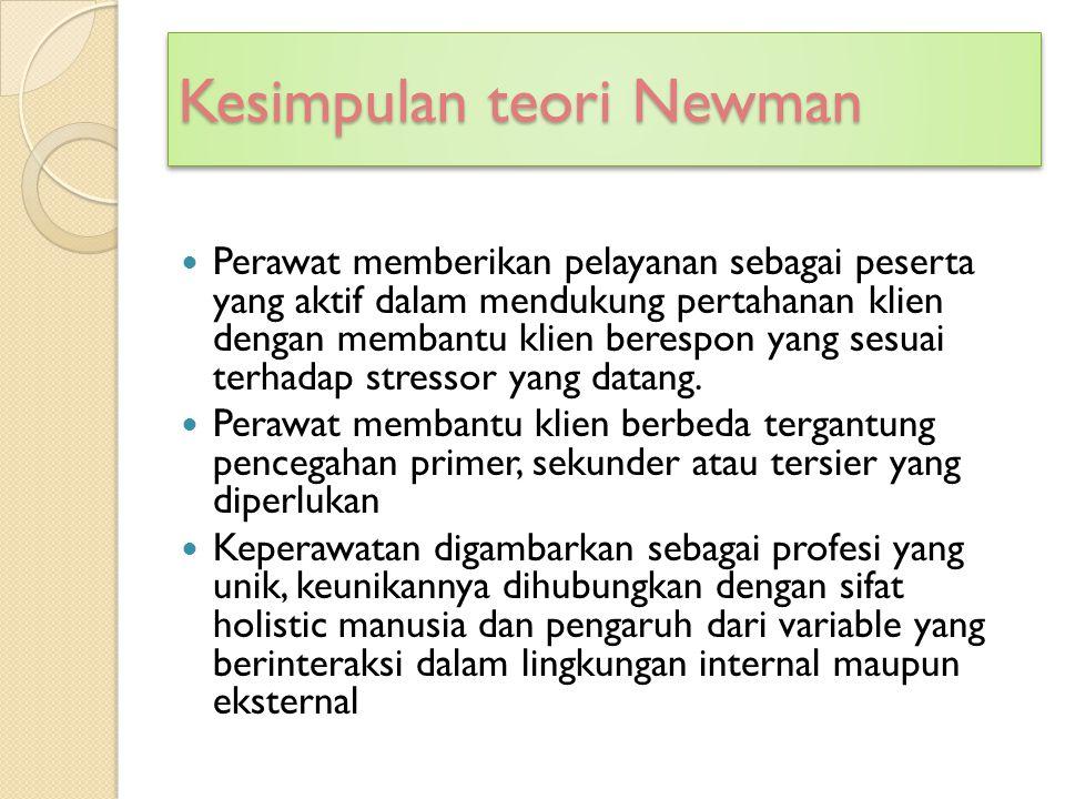 Kesimpulan teori Newman