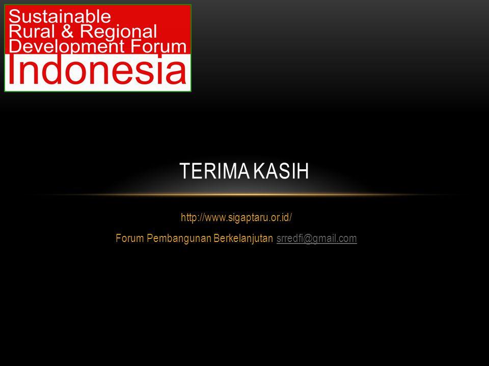 Forum Pembangunan Berkelanjutan srredfi@gmail.com