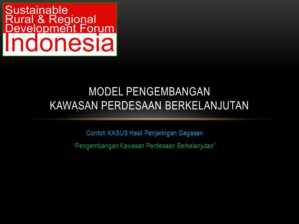 Model Pengembangan Kawasan Perdesaan BerkElAnjutan