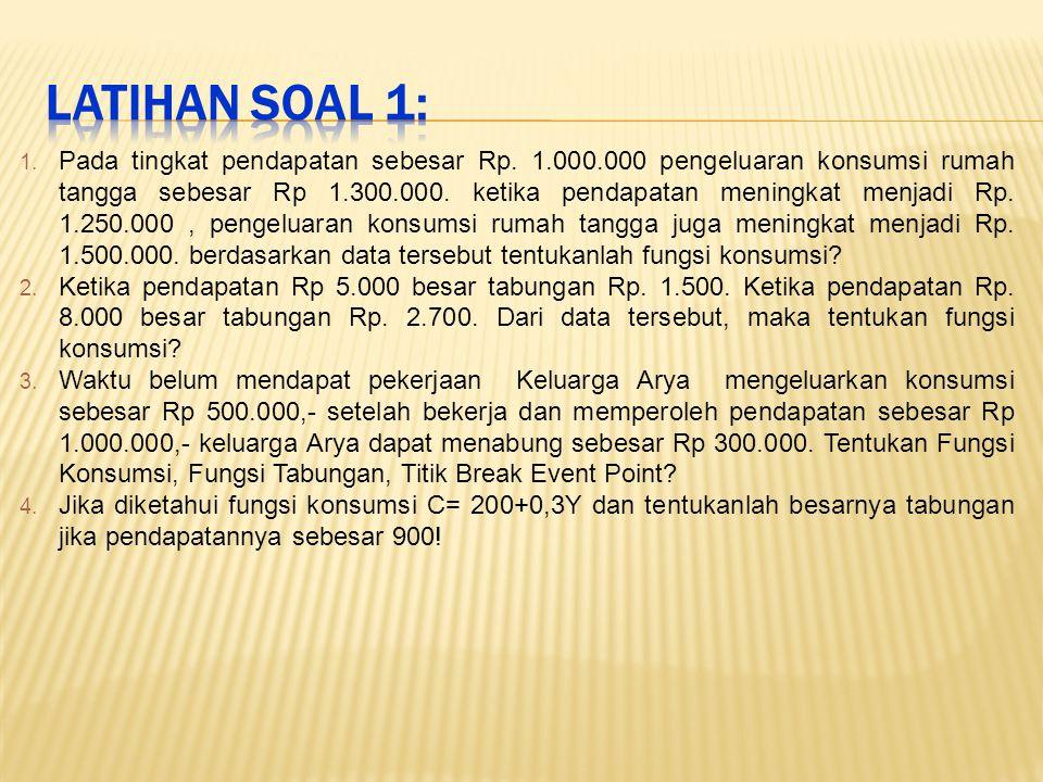 LATIHAN SOAL 1: