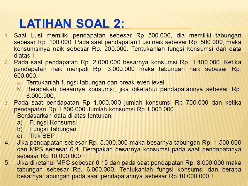 LATIHAN SOAL 2: