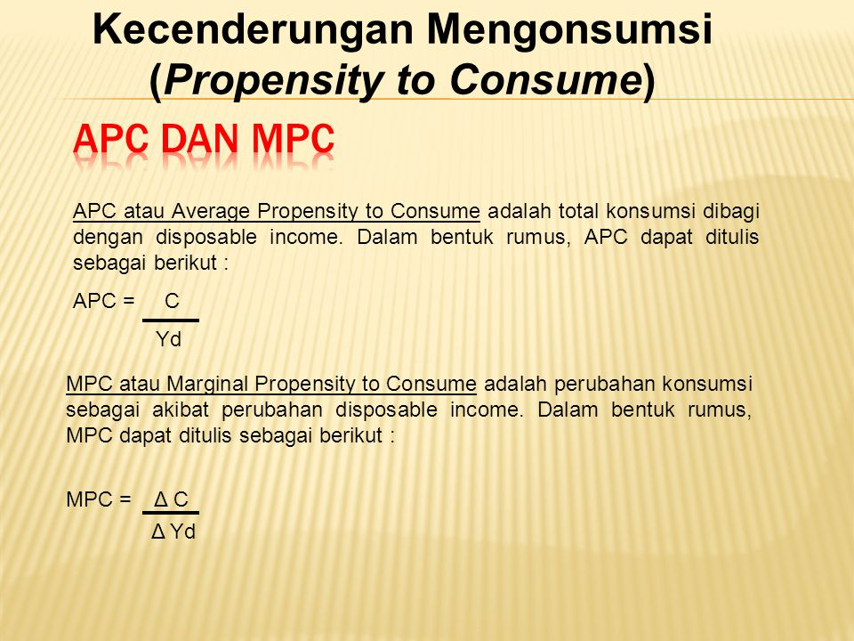 Kecenderungan Mengonsumsi (Propensity to Consume)