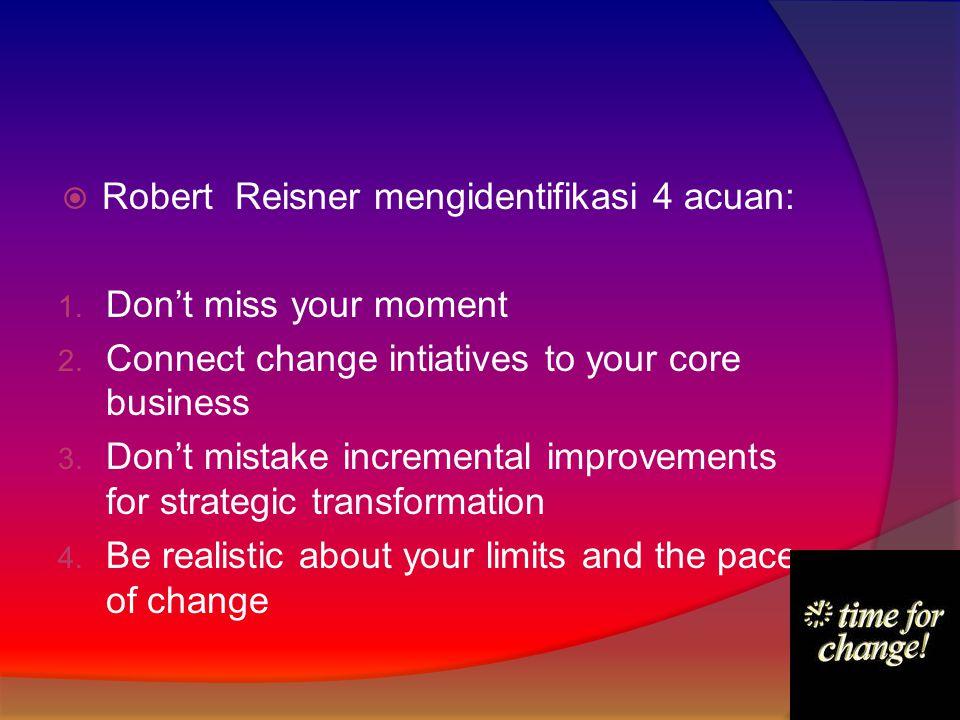 Robert Reisner mengidentifikasi 4 acuan: