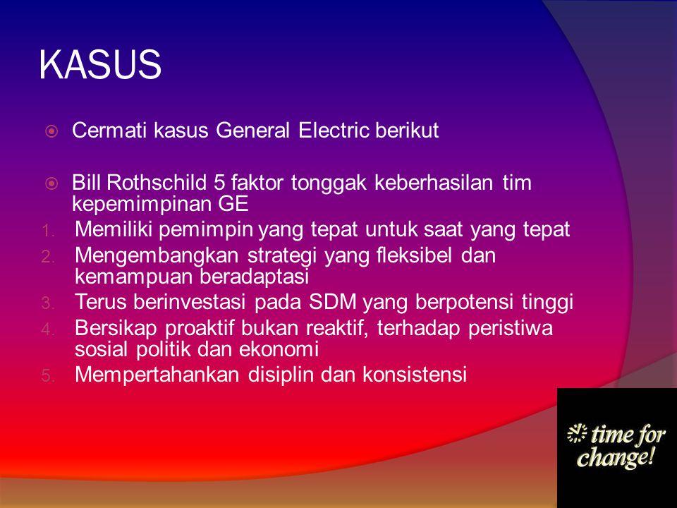 KASUS Cermati kasus General Electric berikut