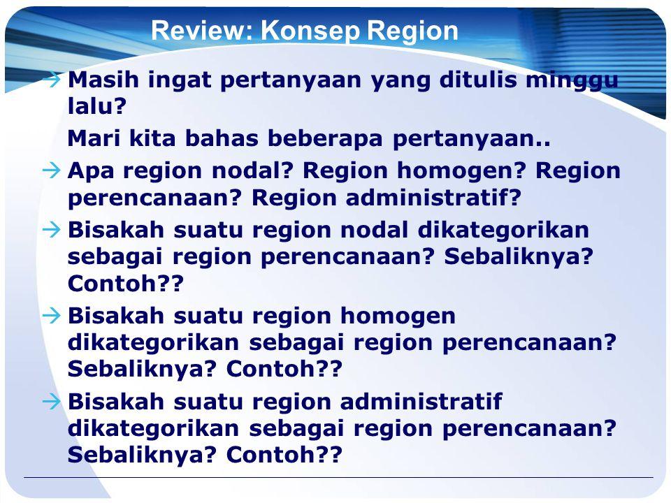 Review: Konsep Region Masih ingat pertanyaan yang ditulis minggu lalu