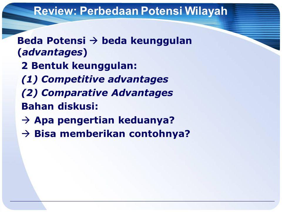 Review: Perbedaan Potensi Wilayah