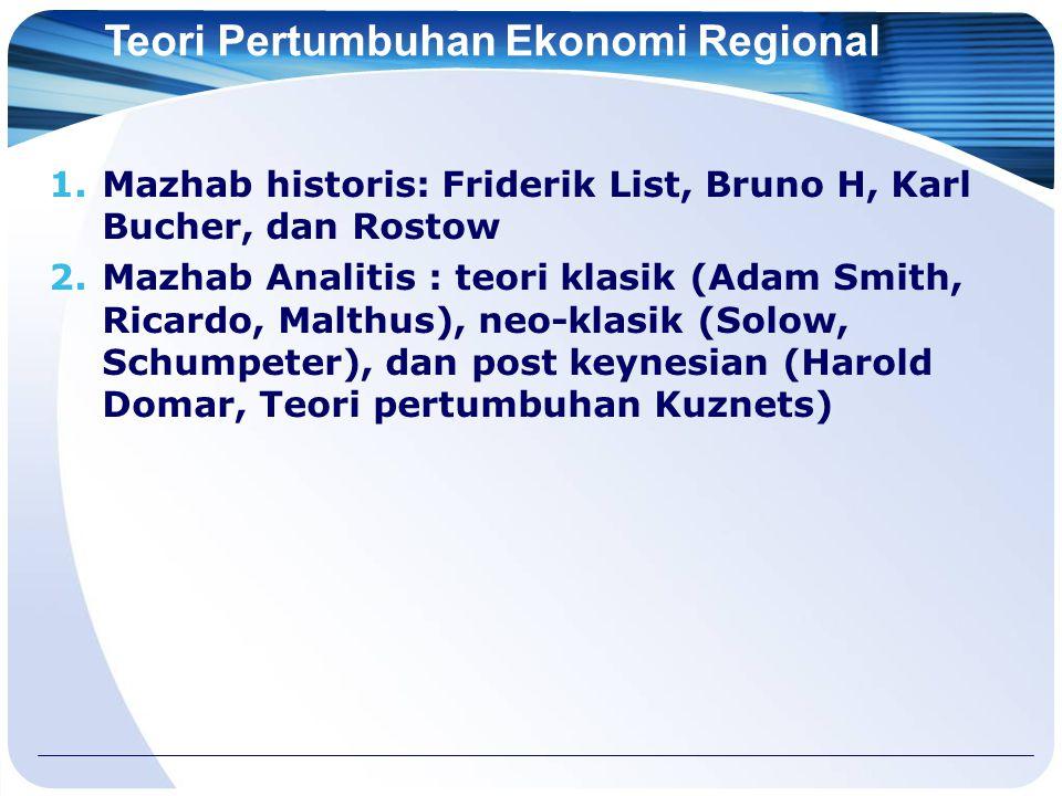 Teori Pertumbuhan Ekonomi Regional