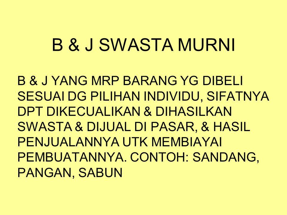 B & J SWASTA MURNI