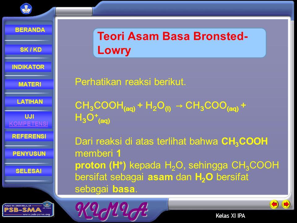 Teori Asam Basa Bronsted-Lowry