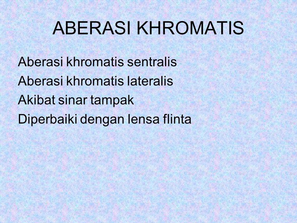 ABERASI KHROMATIS Aberasi khromatis sentralis