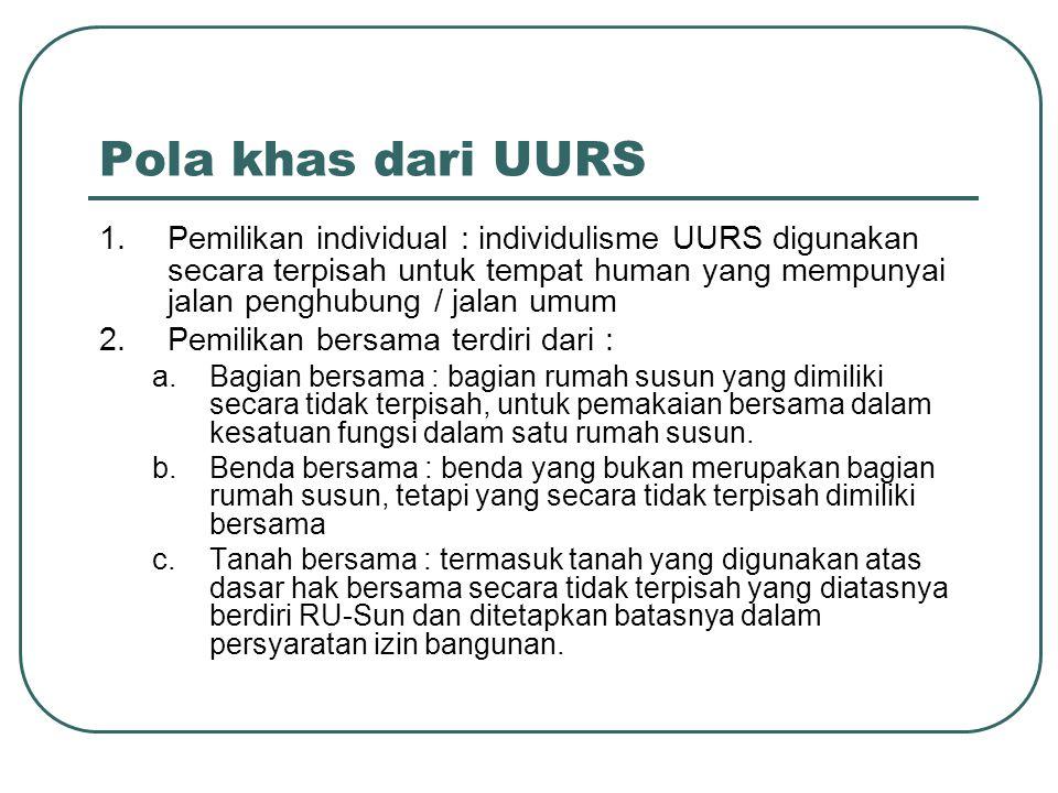 Pola khas dari UURS