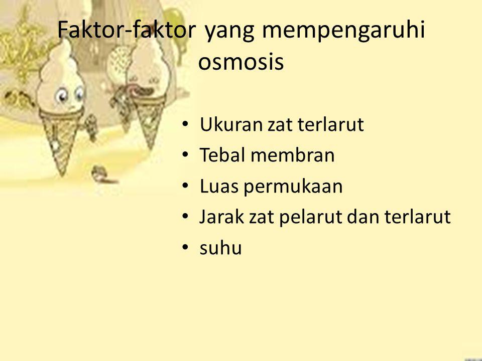 Faktor-faktor yang mempengaruhi osmosis