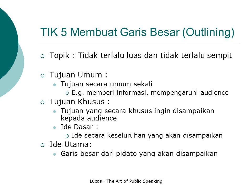 TIK 5 Membuat Garis Besar (Outlining)