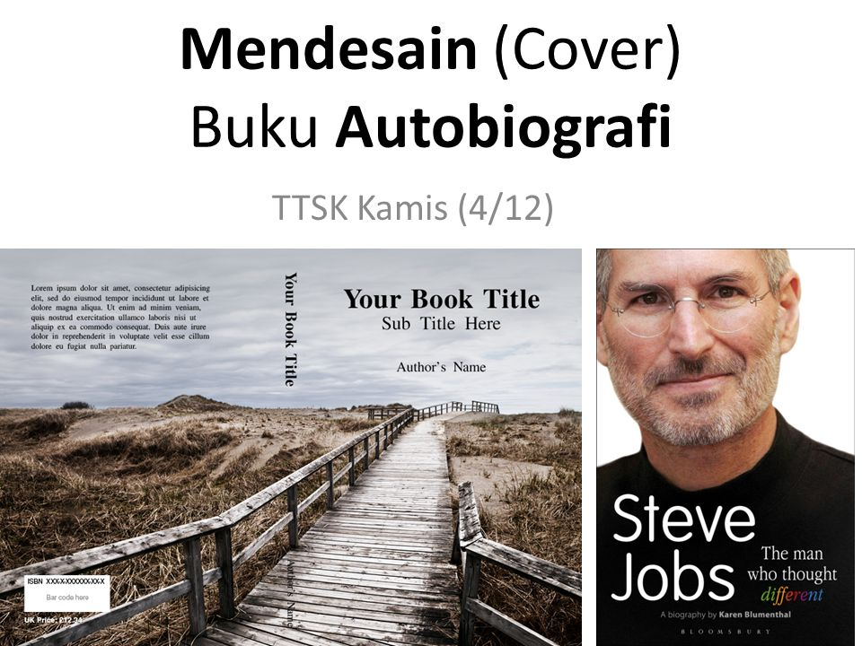 Mendesain (Cover) Buku Autobiografi