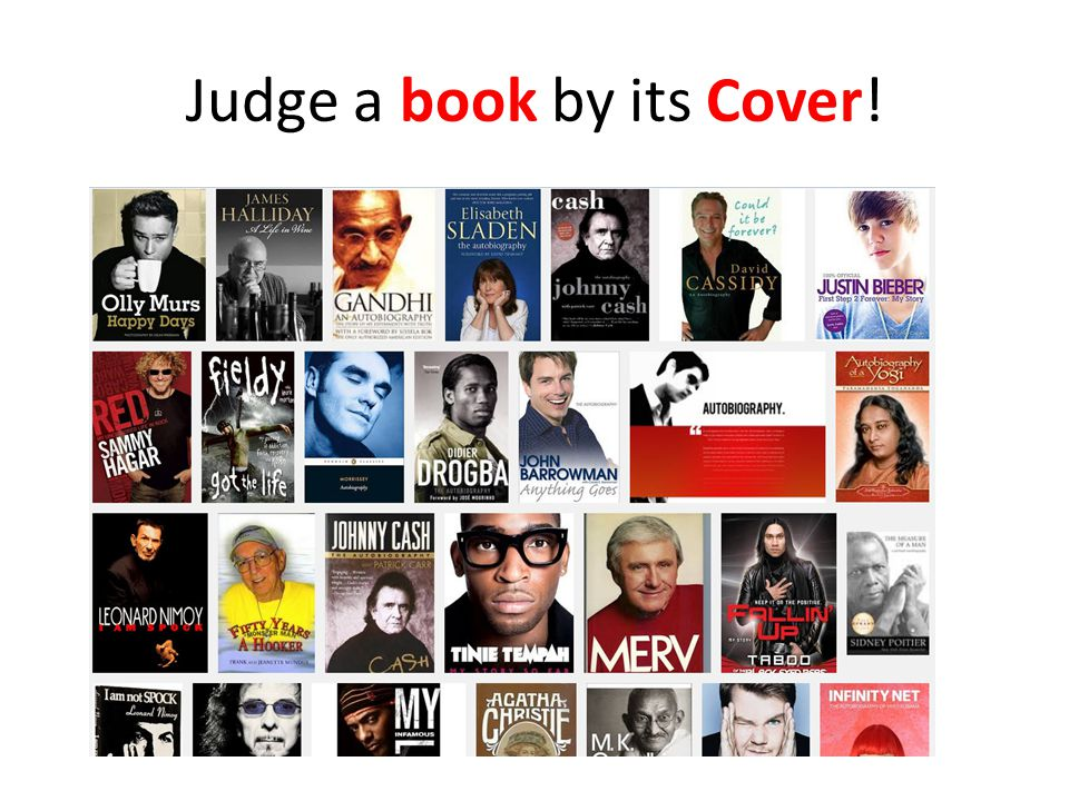 Judge a book by its Cover!
