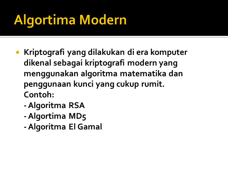 Algortima Modern