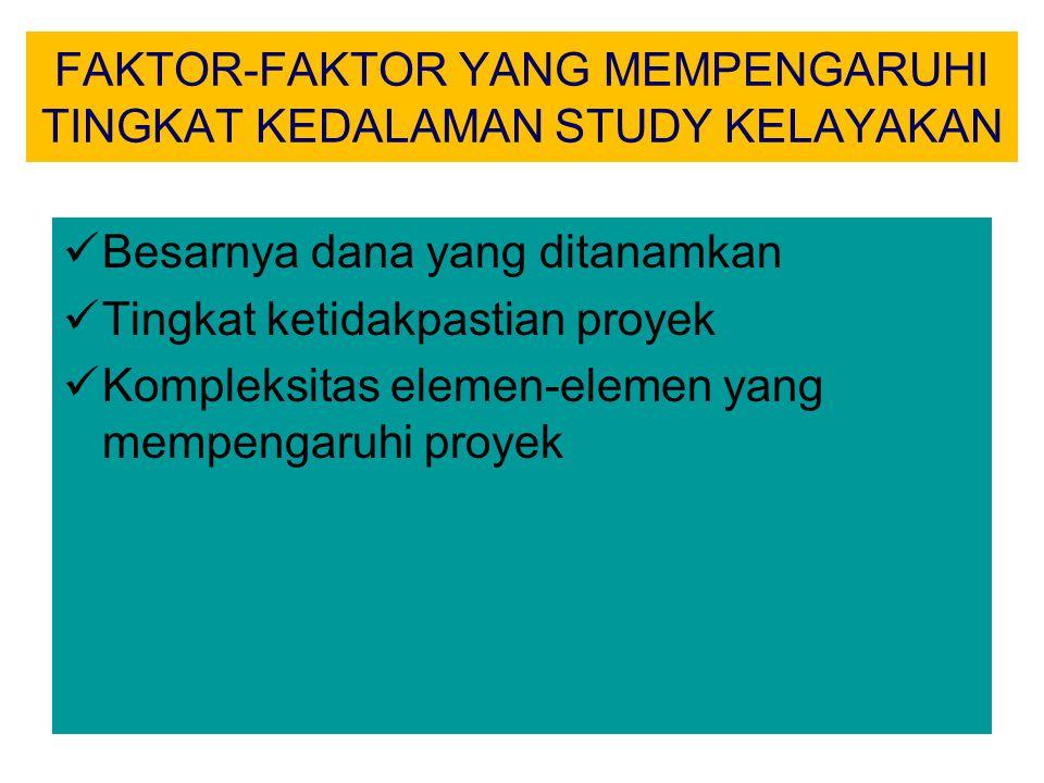 FAKTOR-FAKTOR YANG MEMPENGARUHI TINGKAT KEDALAMAN STUDY KELAYAKAN