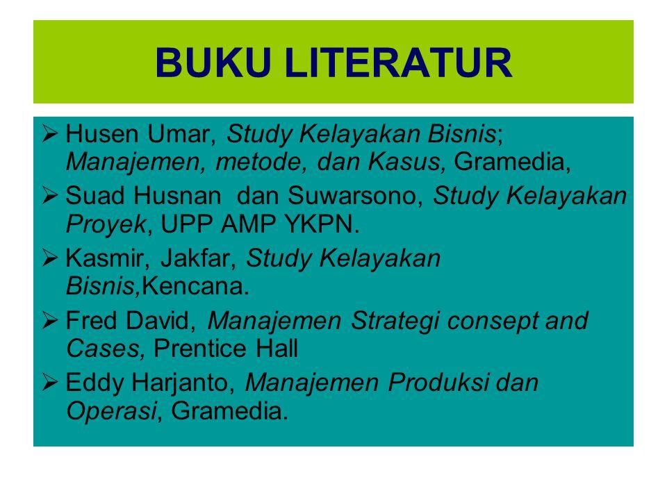 BUKU LITERATUR Husen Umar, Study Kelayakan Bisnis; Manajemen, metode, dan Kasus, Gramedia,