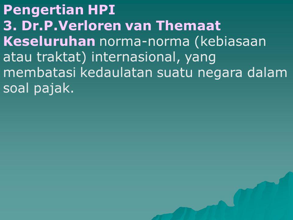 Pengertian HPI 3. Dr.P.Verloren van Themaat.
