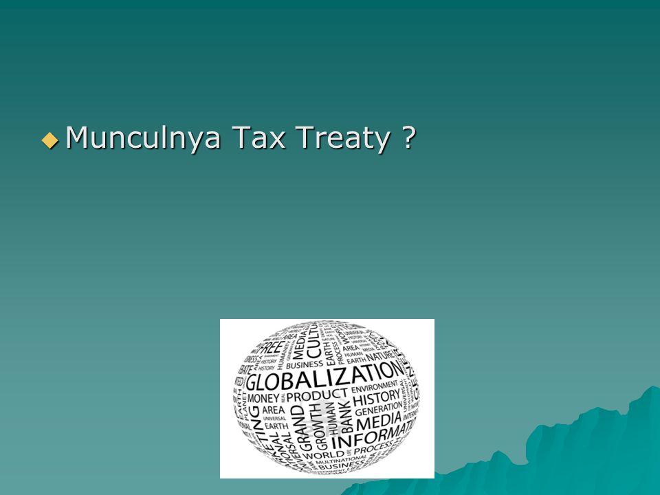 Munculnya Tax Treaty