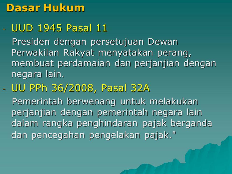 Dasar Hukum UUD 1945 Pasal 11 UU PPh 36/2008, Pasal 32A