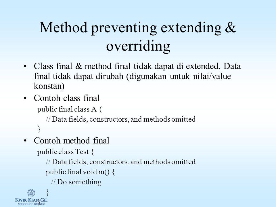 Method preventing extending & overriding