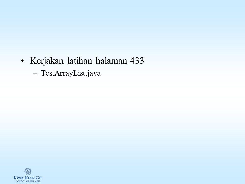 Kerjakan latihan halaman 433