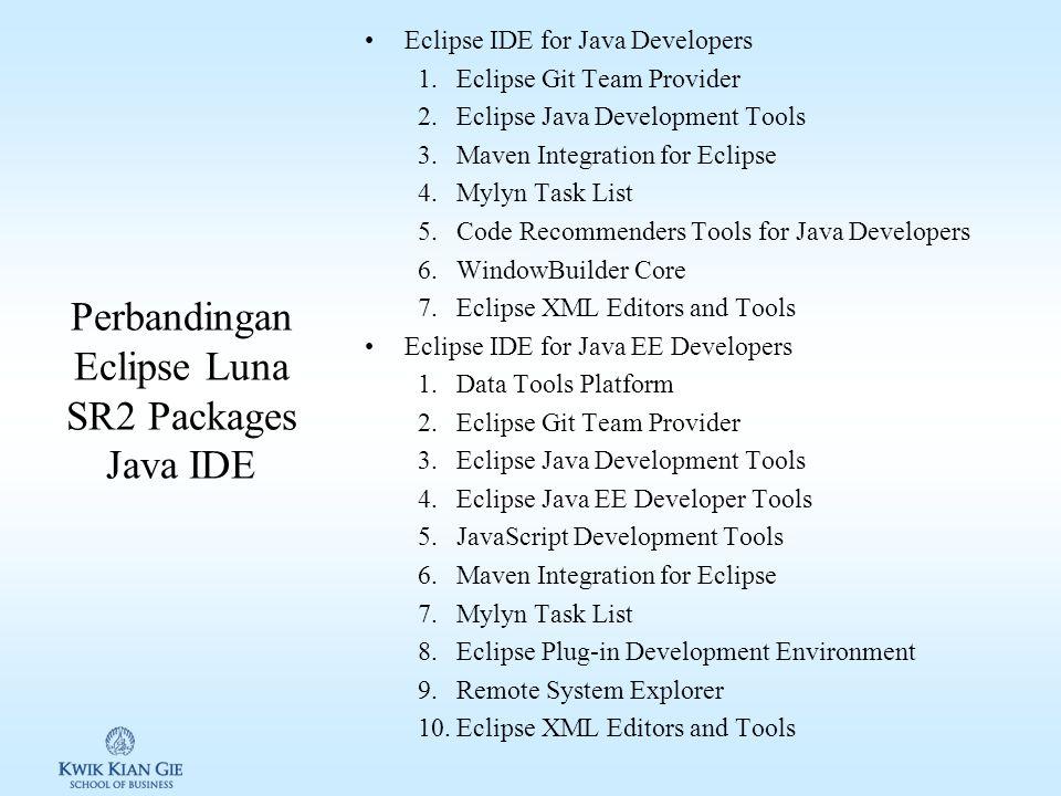 Perbandingan Eclipse Luna SR2 Packages Java IDE