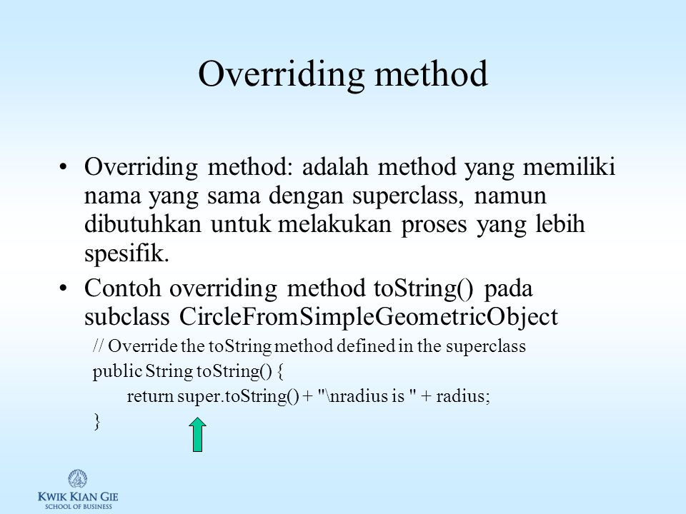 Overriding method