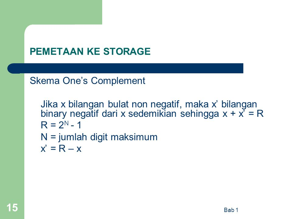 Skema One's Complement
