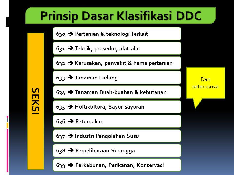 Prinsip Dasar Klasifikasi DDC