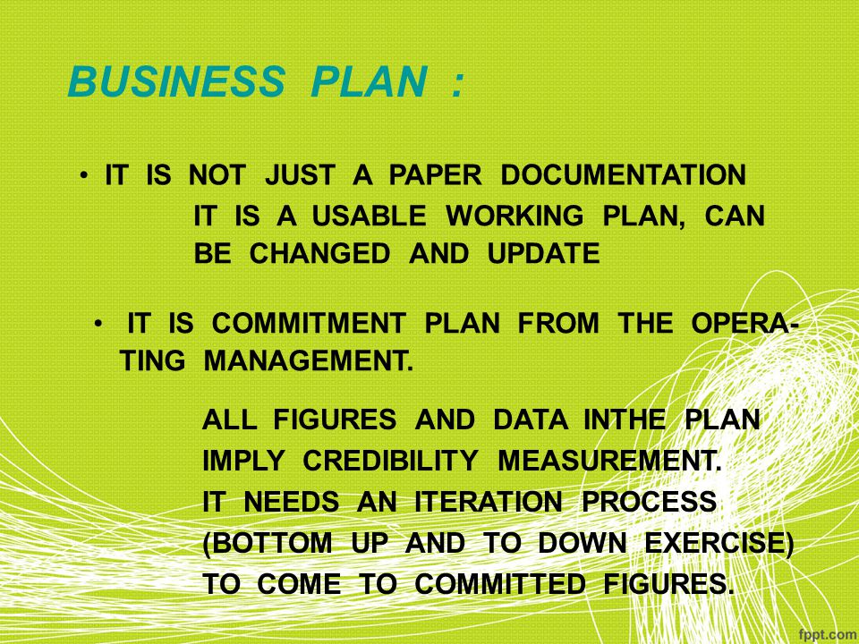 BUSINESS PLAN : IT IS NOT JUST A PAPER DOCUMENTATION