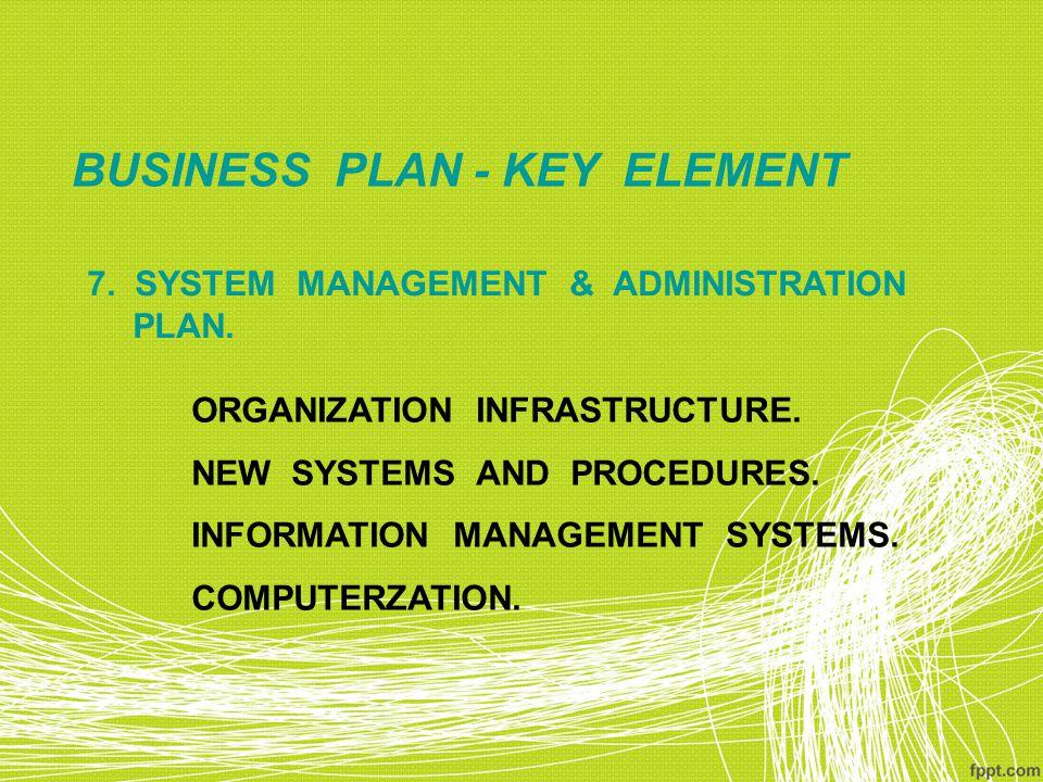 BUSINESS PLAN - KEY ELEMENT