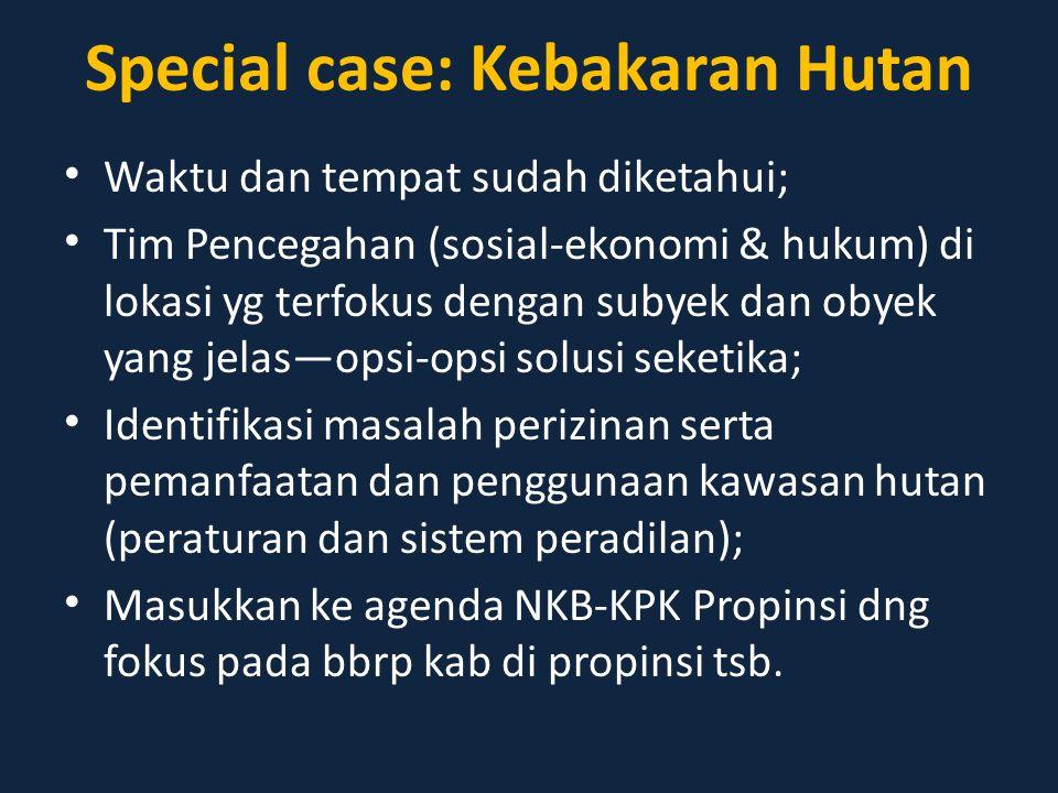 Special case: Kebakaran Hutan