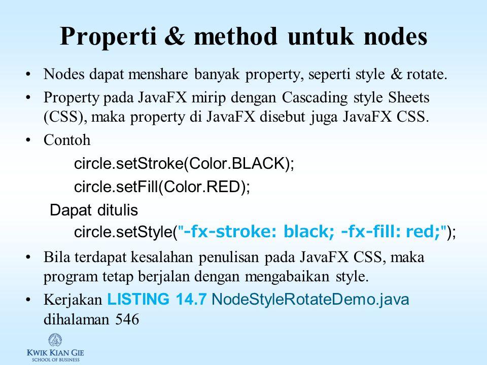 Properti & method untuk nodes