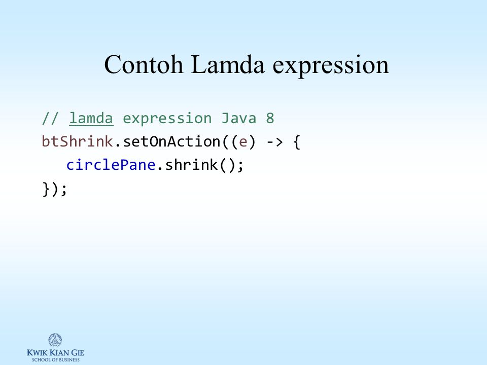 Contoh Lamda expression