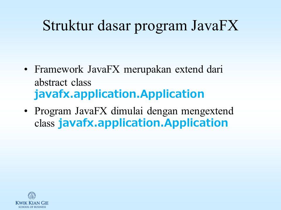 Struktur dasar program JavaFX