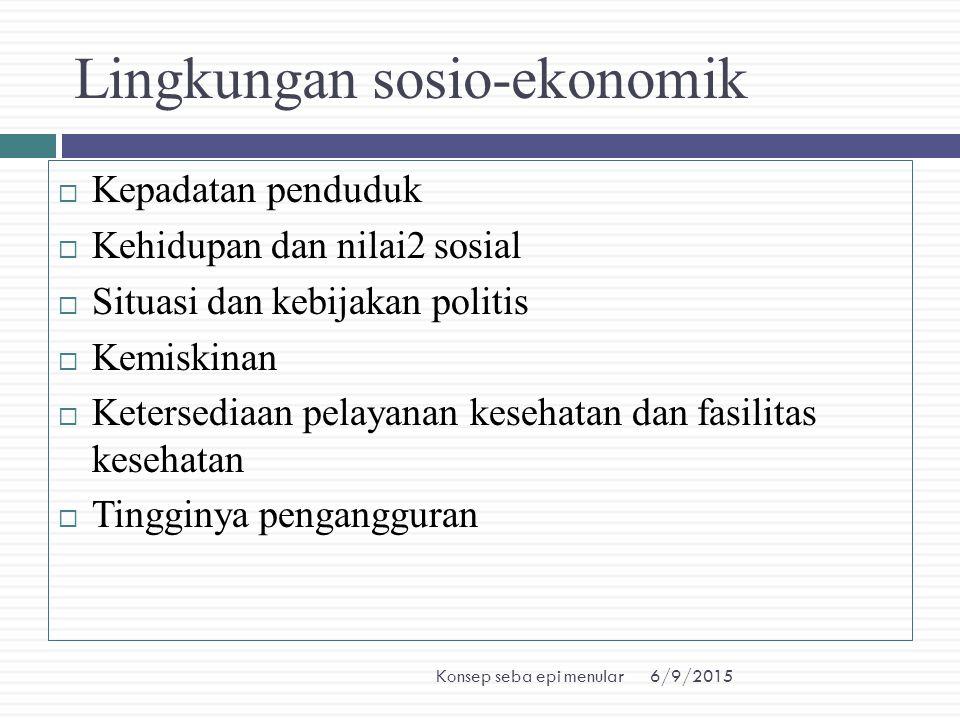 Lingkungan sosio-ekonomik