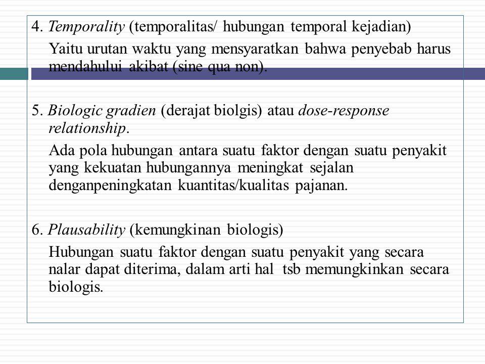 4. Temporality (temporalitas/ hubungan temporal kejadian)