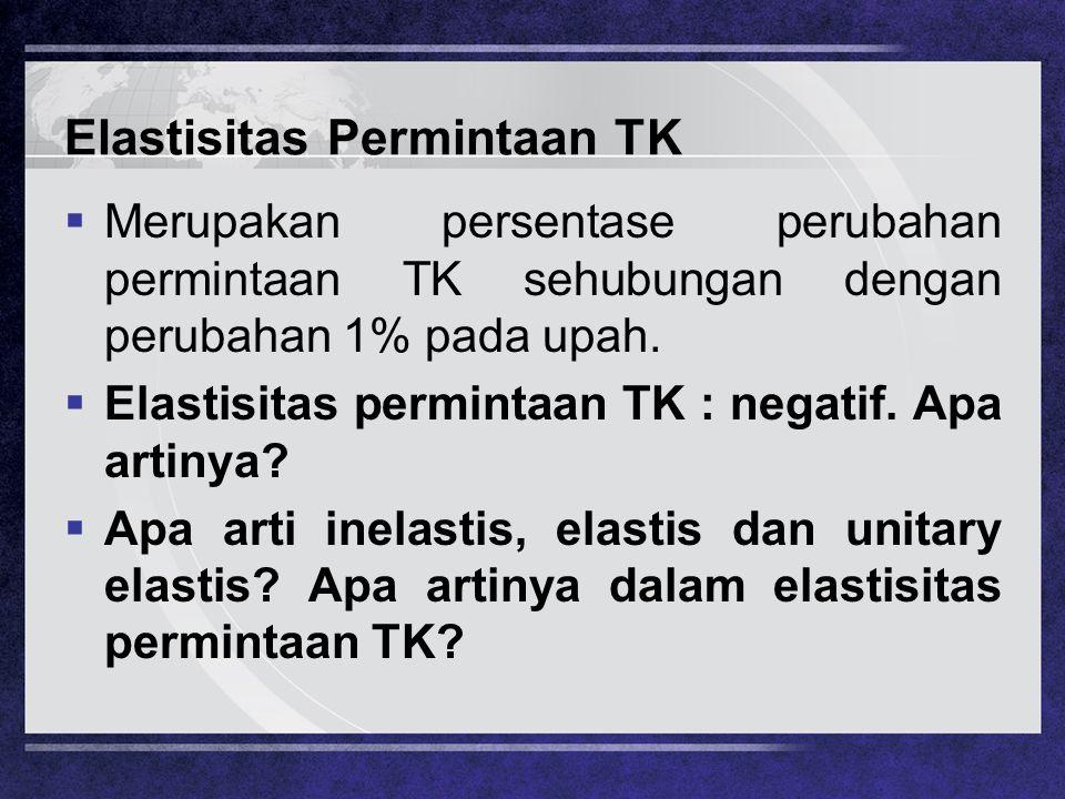 Elastisitas Permintaan TK