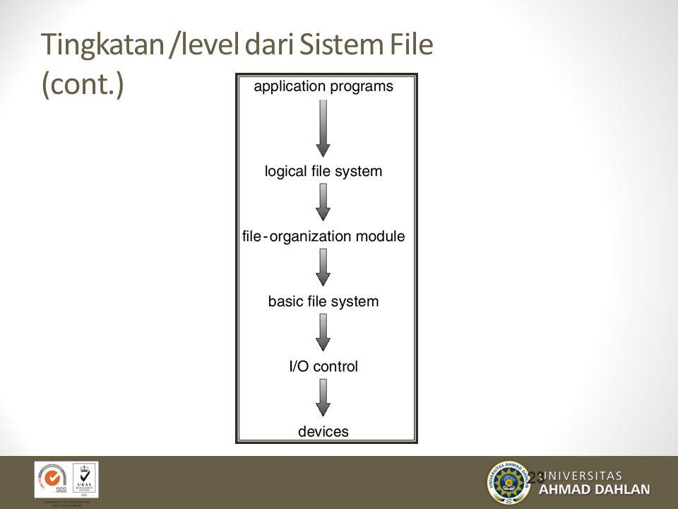 Tingkatan /level dari Sistem File (cont.)
