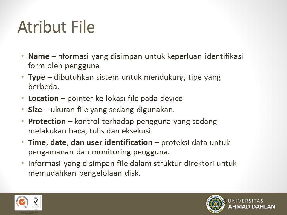 Atribut File Name –informasi yang disimpan untuk keperluan identifikasi form oleh pengguna.